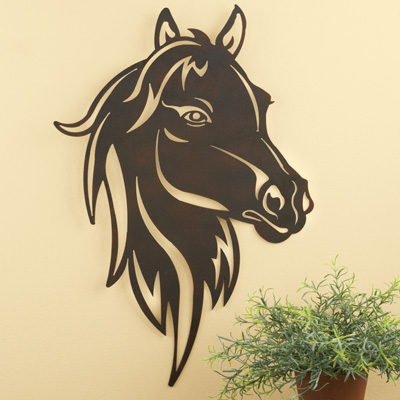 Metal Horse Wall Art metal western horse head wall art from collections etc.