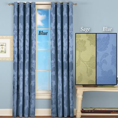 Elegant Floral Insulated Curtain Panel