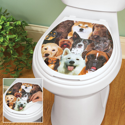 Dogs Faces Toilet Tattoo Decal