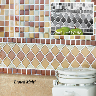 Backsplash Tile Borders - Set of 8
