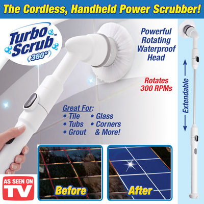 Turbo Scrub 360 Cordless Cleaning Brush