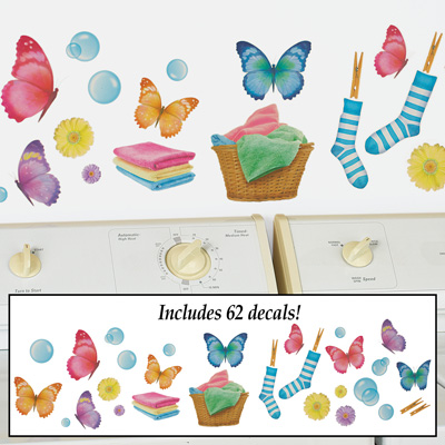 Colorful Butterfly Laundry Wall Decals