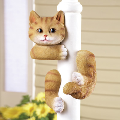 Kitty Tree Hugger Figurine