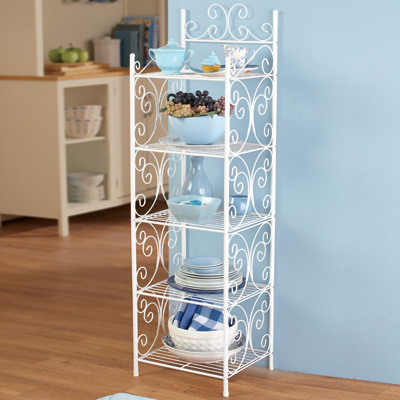 Scrollwork 5 Tier Storage Shelf
