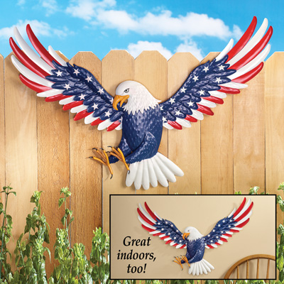 Patriotic Eagle Metal Wall Art