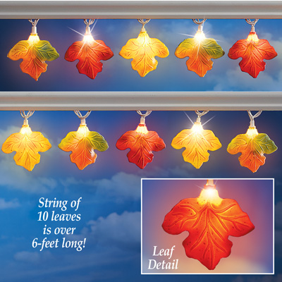 Colorful Autumn Leaves Light String