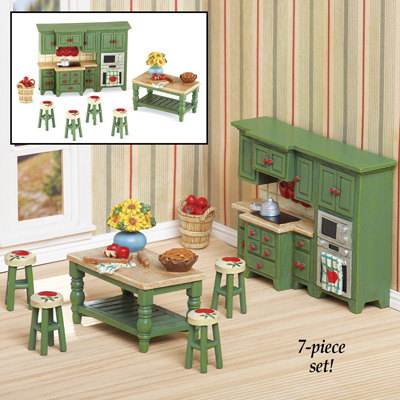 Country Apple Miniature Kitchen Set