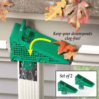 Downspout Gutter Guards - Set of 2