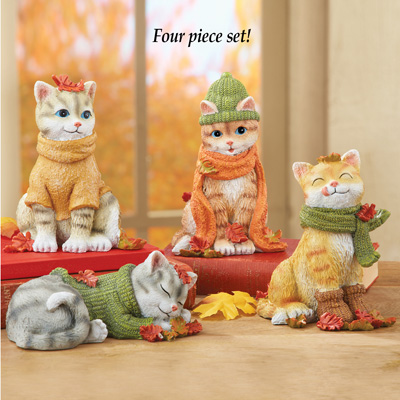 Fall Cat Sitters - Set of 4