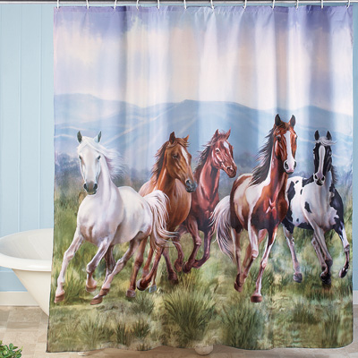 Western Galloping Horse Shower Curtain From Collections Etc