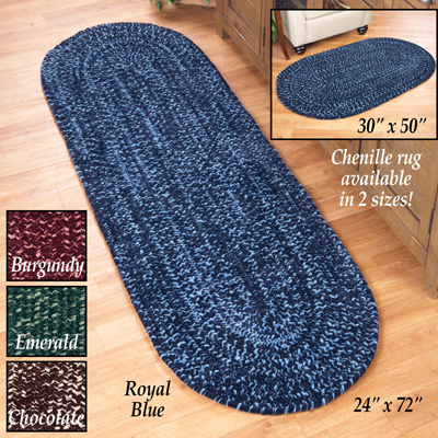 Reversible Chenille Braided Rug
