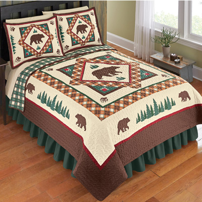 Reversible Northwoods Bear Quilt