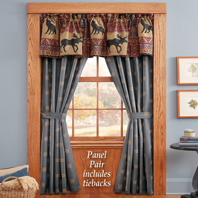 Woodland Scenic Lodge Curtains