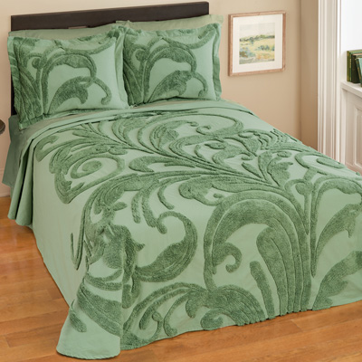 Bethany Scroll Chenille Bedspread