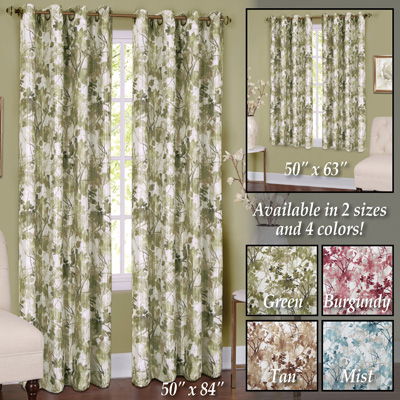 Tranquil Trees Insulated Curtain Panel
