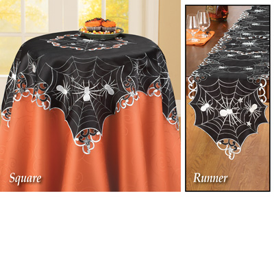 Halloween Creepy Spiders Table Linens
