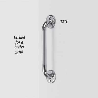 Slip-Resistant Chrome Grab Support Bar