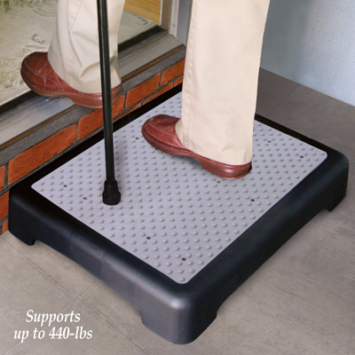 Slip-Resistant Outdoor Step