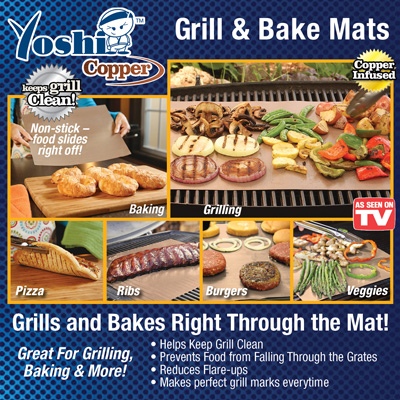 Yoshi Copper Reusable Grill and Bake Mats