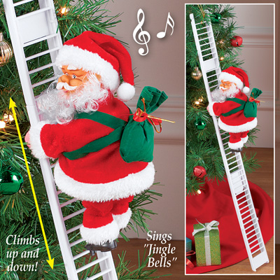 Santa Climbing Ladder Christmas Decoration From