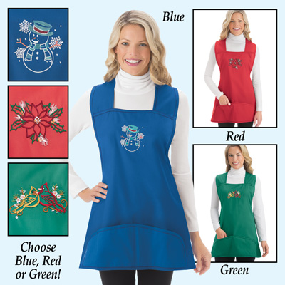 Christmas Holiday Cobbler Aprons