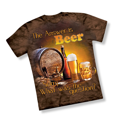 The Answer is Beer Mens Novelty T Shirt