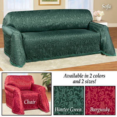 Alexandria Scroll Furniture Throw Cover