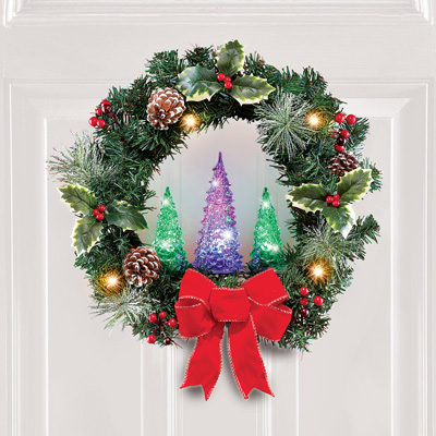 Color Changing Christmas Tree Wreath