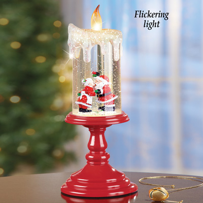 Mr. & Mrs Kissing Claus Candle Decoration