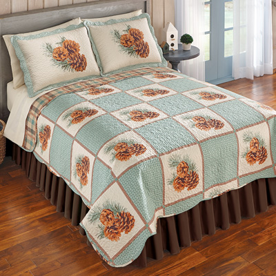 Pinecone Patch Woodland Quilt