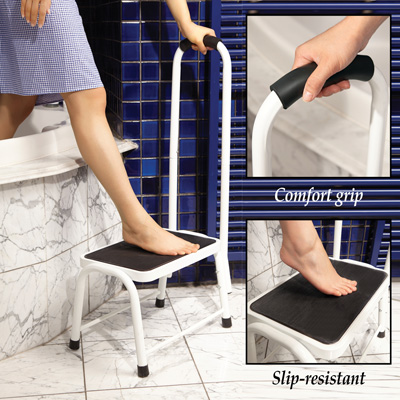 Safety Step Stool with Handrail