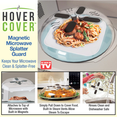 Hover Cover Magnetic Microwave Food Cover