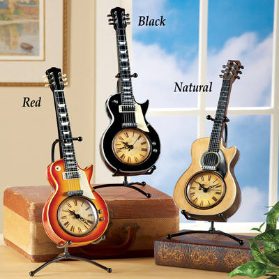 Tabletop Guitar Clock w/ Stand