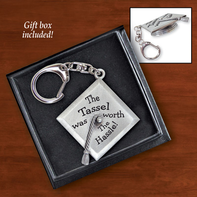 Graduation Cap Keepsake Key Chain