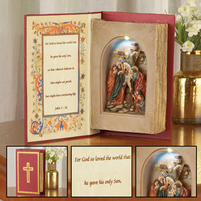 Bible Verse Lighted Tabletop Decoration
