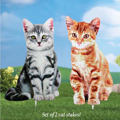 Cat Outdoor Yard Stakes - Set of 2