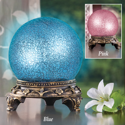 Sparkling Gazing Ball Table Lamp