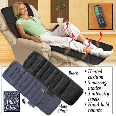 Plush Heated Massage Chair Pad with Remote