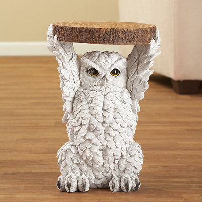 Majestic Owl Side Accent Table