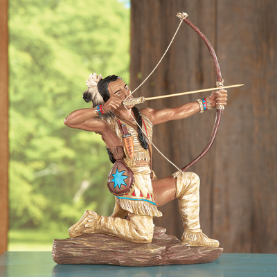 American Indian Bow and Arrow Statue