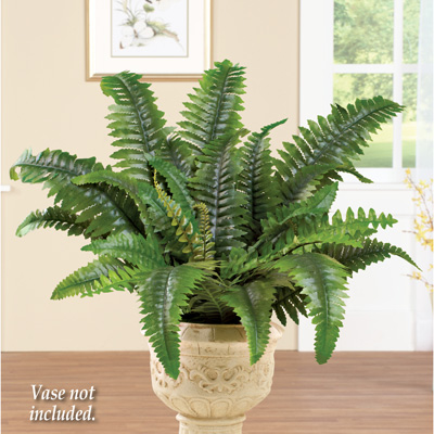 Artificial Boston Fern Shrub Plant