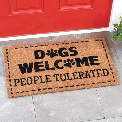 Dogs Welcome Funny Front Door Coco Mat