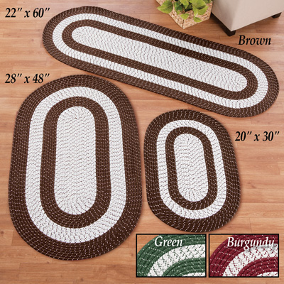 Classic Two-tone Braided Accent Rug