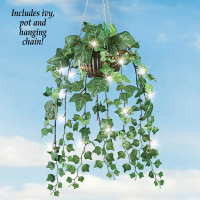 Artificial Ivy Hanging Plant with LED Lights