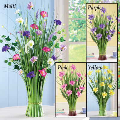 Decorative Floral Spring Grass Bunch
