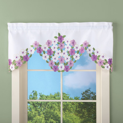 Elegant Wildflowers Window Valance