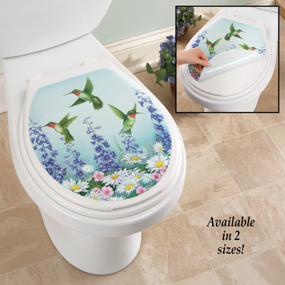 Hummingbird Garden Toilet Tattoo Decal