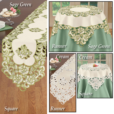 Elegant Wildflower Rose Table Linens