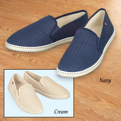 Elastic Stretch Mesh Slip-on Boat Shoes