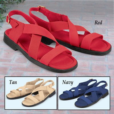 Elasticized Stretch Comfort Sandals
